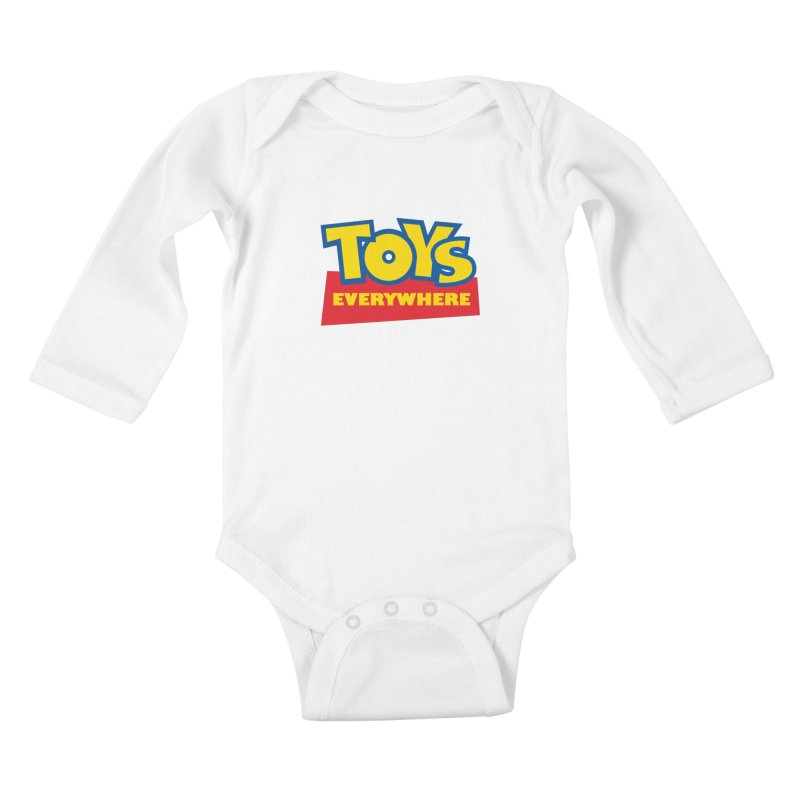 TOYS EVERYWHERE Kids Baby Longsleeve Bodysuit by Happy Thursdays - A Onesie Project by Ceylan S. Ek