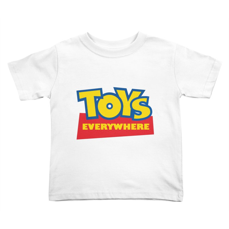 TOYS EVERYWHERE Kids Toddler T-Shirt by Happy Thursdays - A Onesie Project by Ceylan S. Ek