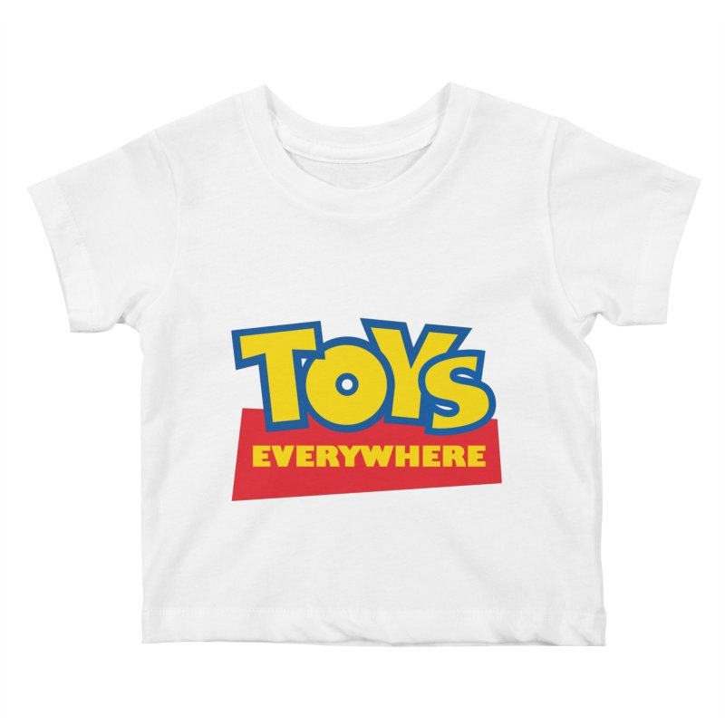 TOYS EVERYWHERE Kids Baby T-Shirt by Happy Thursdays - A Onesie Project by Ceylan S. Ek