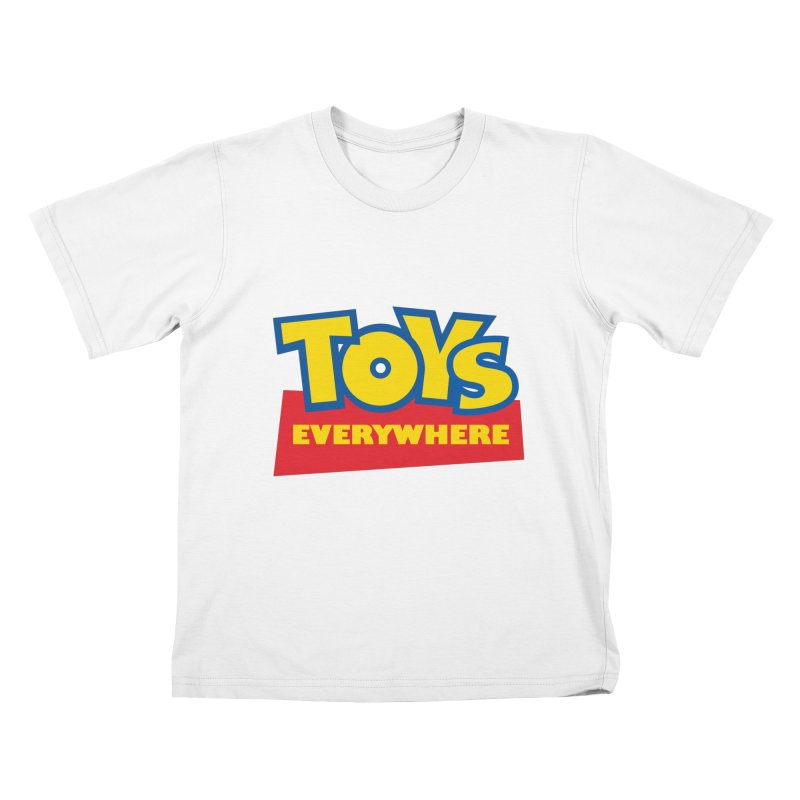 TOYS EVERYWHERE Kids T-Shirt by Happy Thursdays - A Onesie Project by Ceylan S. Ek
