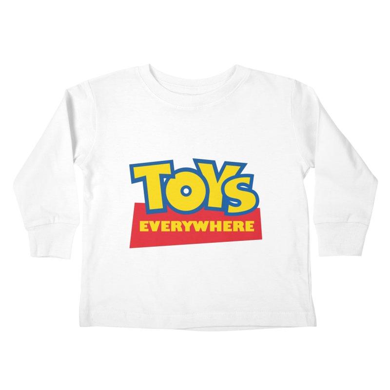 TOYS EVERYWHERE Kids Toddler Longsleeve T-Shirt by Happy Thursdays - A Onesie Project by Ceylan S. Ek