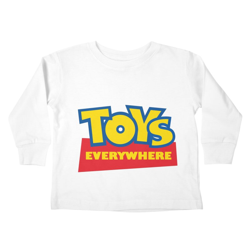 TOYS EVERYWHERE Kids Toddler Longsleeve T-Shirt by Happy Thursdays - A Onesie Project by Ceylan S. Ek