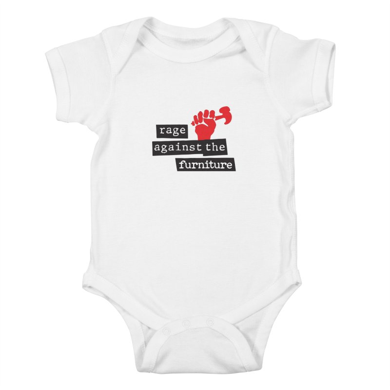 rage against the furniture Kids Baby Bodysuit by Happy Thursdays - A Onesie Project by Ceylan S. Ek