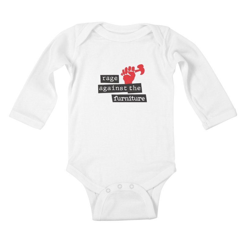 rage against the furniture Kids Baby Longsleeve Bodysuit by Happy Thursdays - A Onesie Project by Ceylan S. Ek