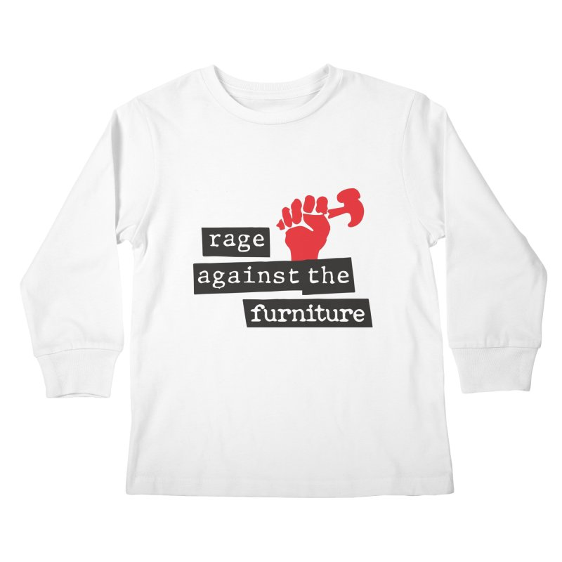 rage against the furniture Kids Longsleeve T-Shirt by Happy Thursdays - A Onesie Project by Ceylan S. Ek