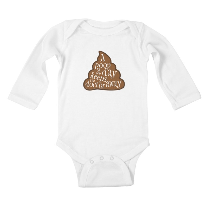 A poop a day... Kids Baby Longsleeve Bodysuit by Happy Thursdays - A Onesie Project by Ceylan S. Ek