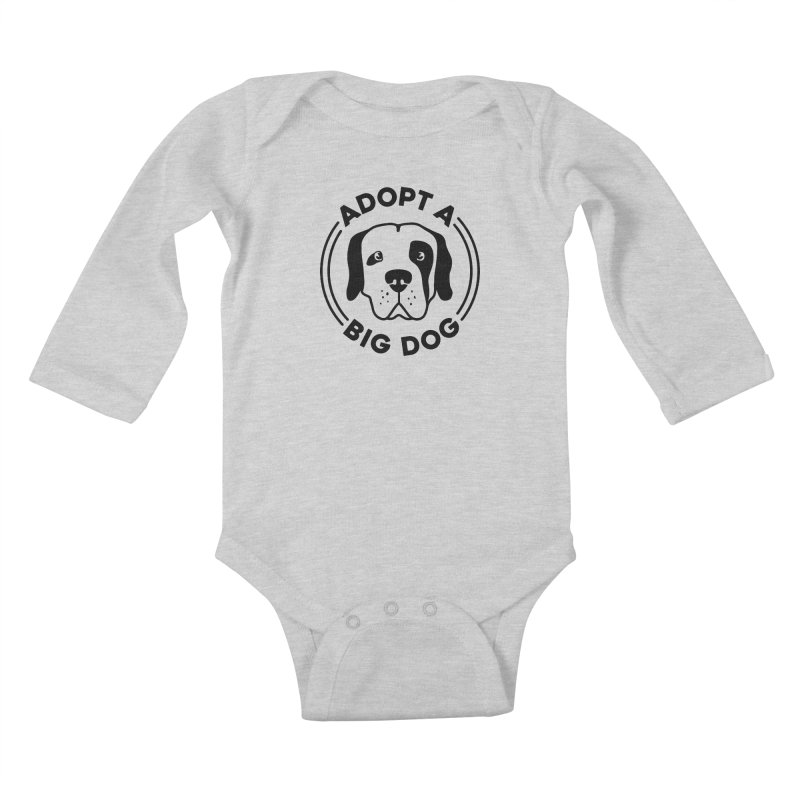 Adopt a Big Dog Kids Baby Longsleeve Bodysuit by One Tail At A Time