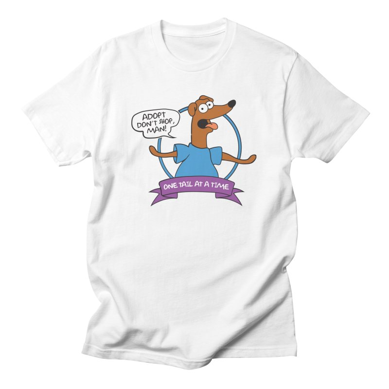 Adopt don't shop, man! Men's T-Shirt by One Tail At A Time