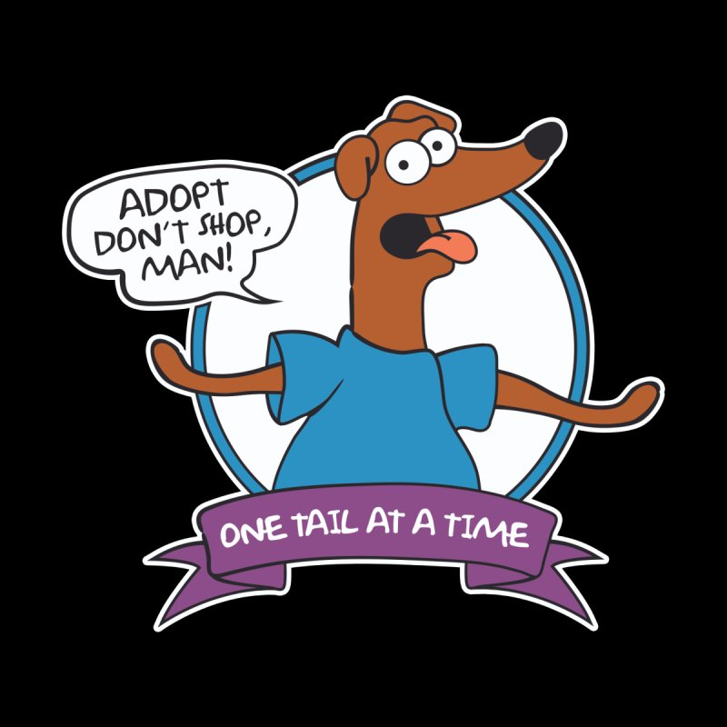 Adopt don't shop, man! (for dark shirts) Men's T-Shirt by One Tail At A Time