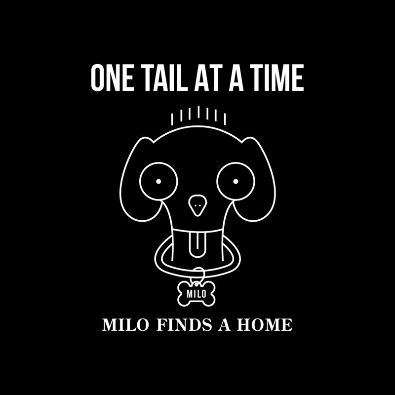Milo (white design for dark shirts) Men's Sweatshirt by One Tail At A Time
