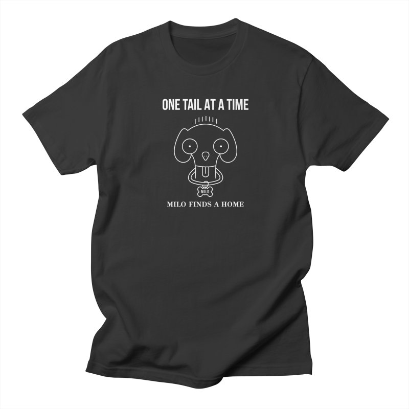 Milo (white design for dark shirts) Men's T-Shirt by One Tail At A Time