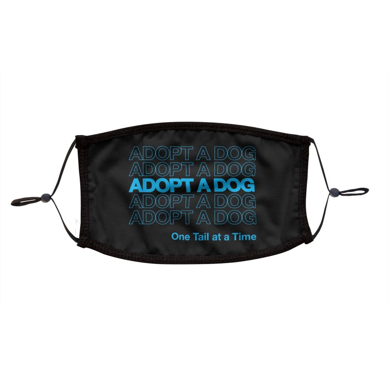 Thank you | Adopt a Dog Accessories Face Mask by One Tail At A Time