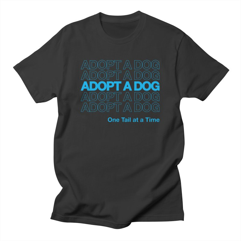 Thank you | Adopt a Dog Men's T-Shirt by One Tail At A Time