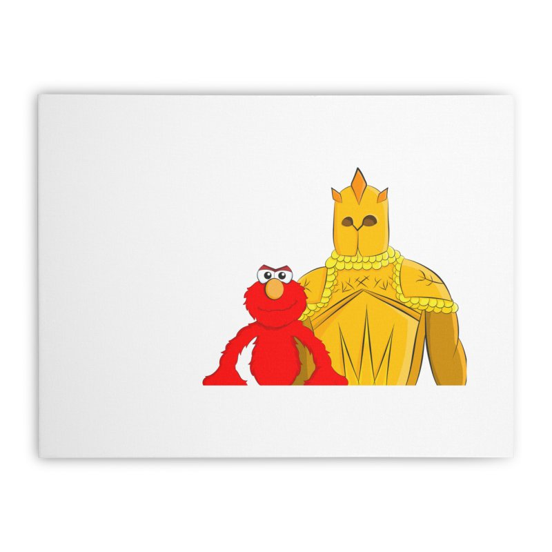 Elmo Choose Violence Home Stretched Canvas by oneweirddude's Artist Shop