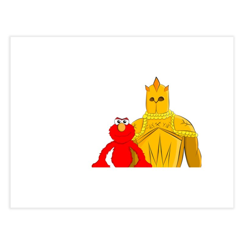Elmo Choose Violence Home Fine Art Print by oneweirddude's Artist Shop