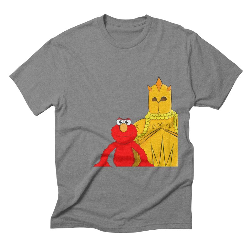 Elmo Choose Violence Men's Triblend T-shirt by oneweirddude's Artist Shop