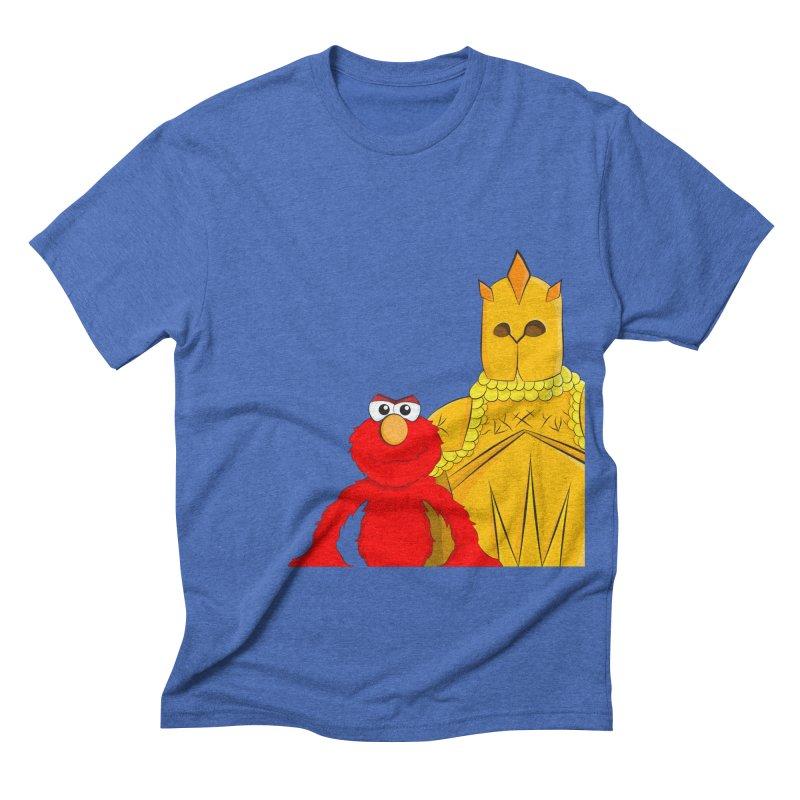 Elmo Choose Violence Men's Triblend T-shirt by oneweirddude's Artist Shop