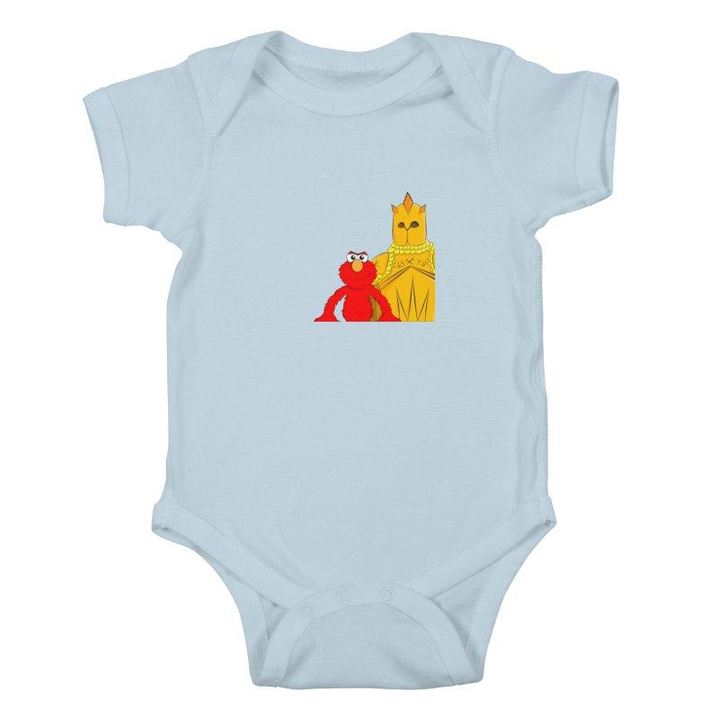 Elmo Choose Violence Kids Baby Bodysuit by oneweirddude's Artist Shop