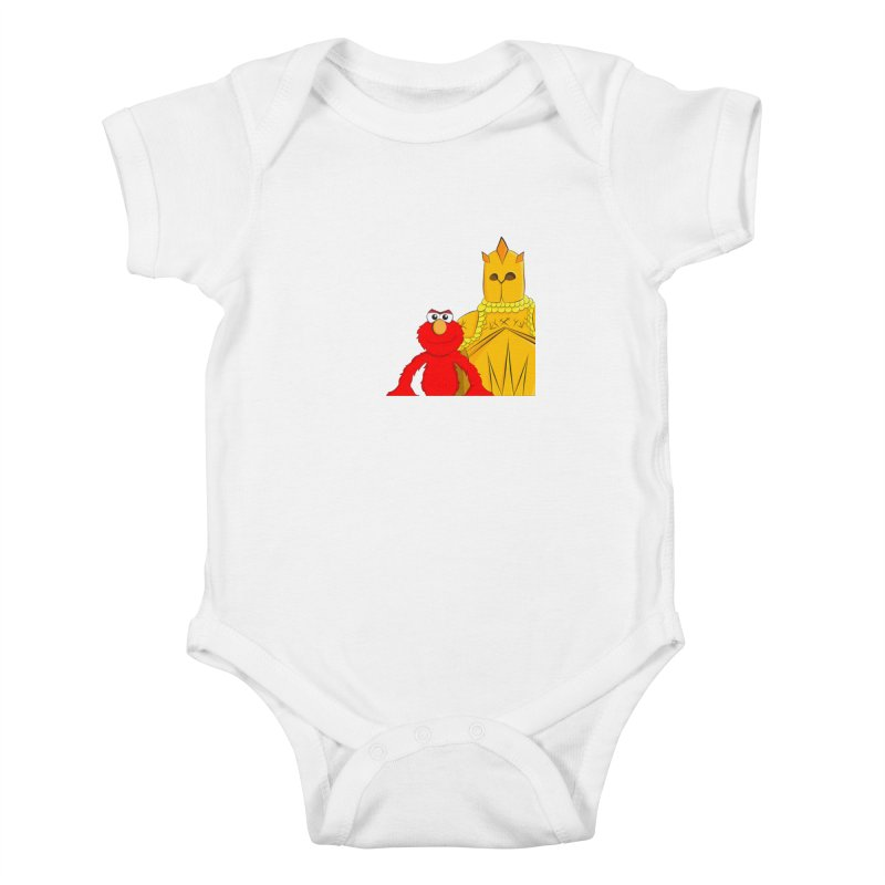 Elmo Choose Violence Kids Baby Bodysuit by oneweirddude's Artist Shop
