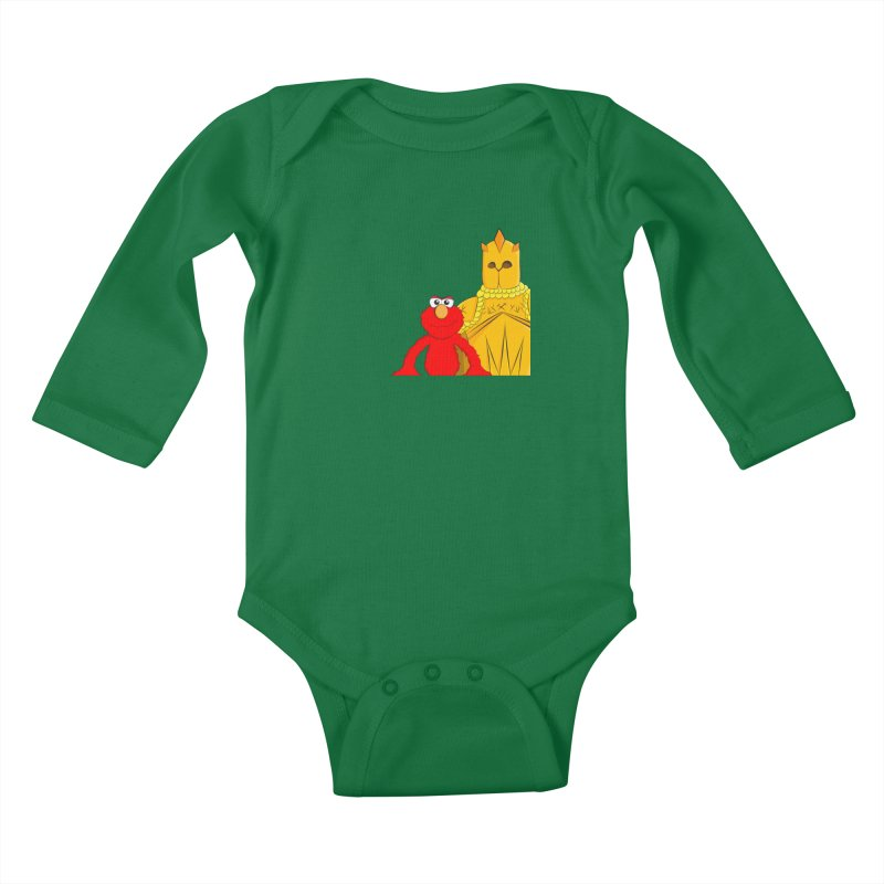 Elmo Choose Violence Kids Baby Longsleeve Bodysuit by oneweirddude's Artist Shop