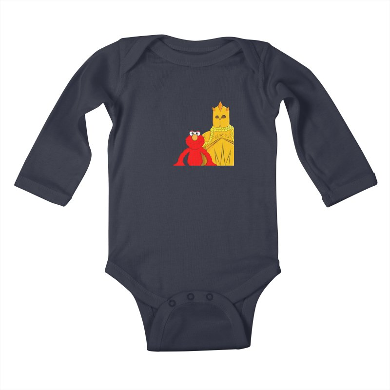 Elmo Choose Violence Kids Baby Longsleeve Bodysuit by oneweirddude's Artist Shop
