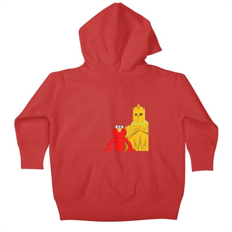 Elmo Choose Violence Kids Baby Zip-Up Hoody by oneweirddude's Artist Shop