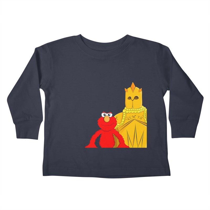 Elmo Choose Violence Kids Toddler Longsleeve T-Shirt by oneweirddude's Artist Shop