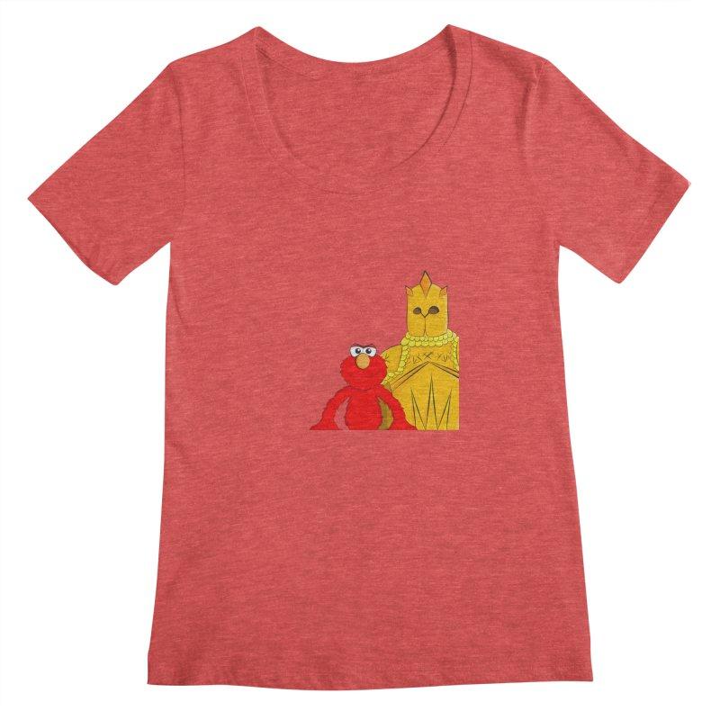 Elmo Choose Violence Women's Scoopneck by oneweirddude's Artist Shop