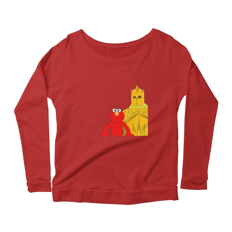 Elmo Choose Violence Women's Longsleeve Scoopneck  by oneweirddude's Artist Shop