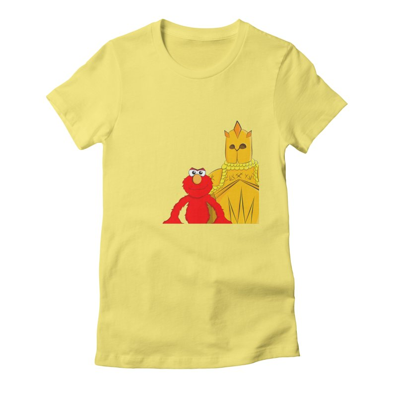 Elmo Choose Violence Women's Fitted T-Shirt by oneweirddude's Artist Shop