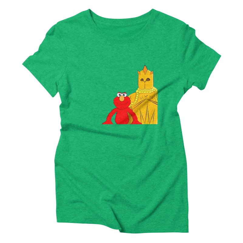 Elmo Choose Violence Women's Triblend T-shirt by oneweirddude's Artist Shop