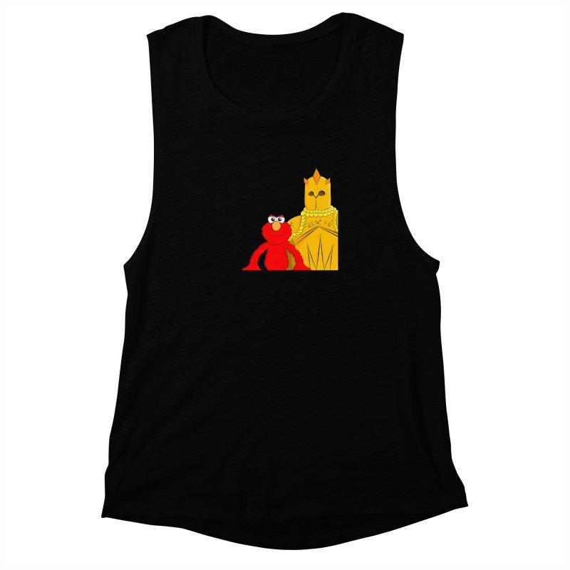 Elmo Choose Violence Women's Muscle Tank by oneweirddude's Artist Shop