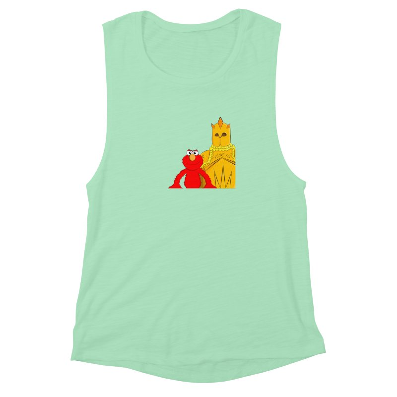 Elmo Choose Violence Women's Muscle Tank by oneweirddude's Artist Shop