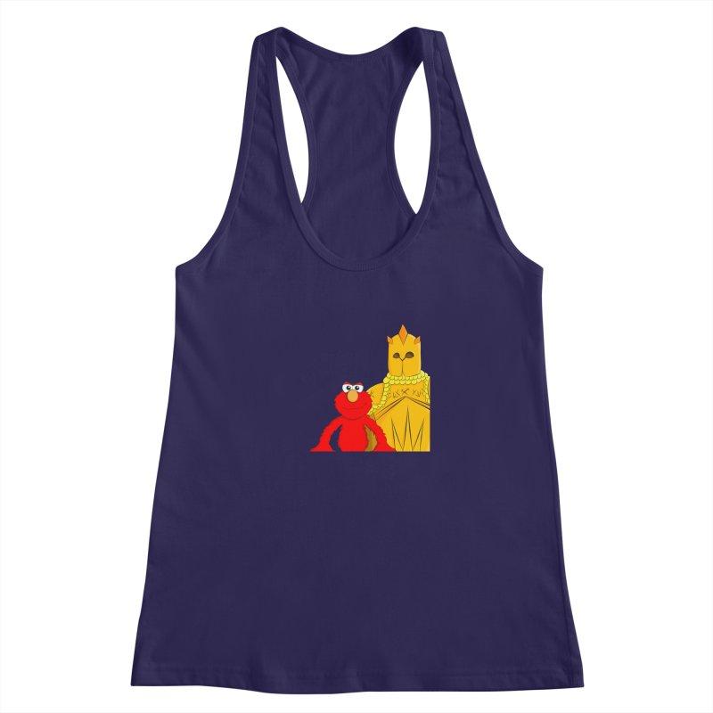 Elmo Choose Violence Women's Racerback Tank by oneweirddude's Artist Shop