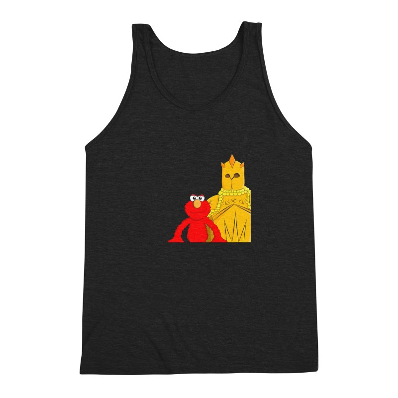 Elmo Choose Violence Men's Triblend Tank by oneweirddude's Artist Shop