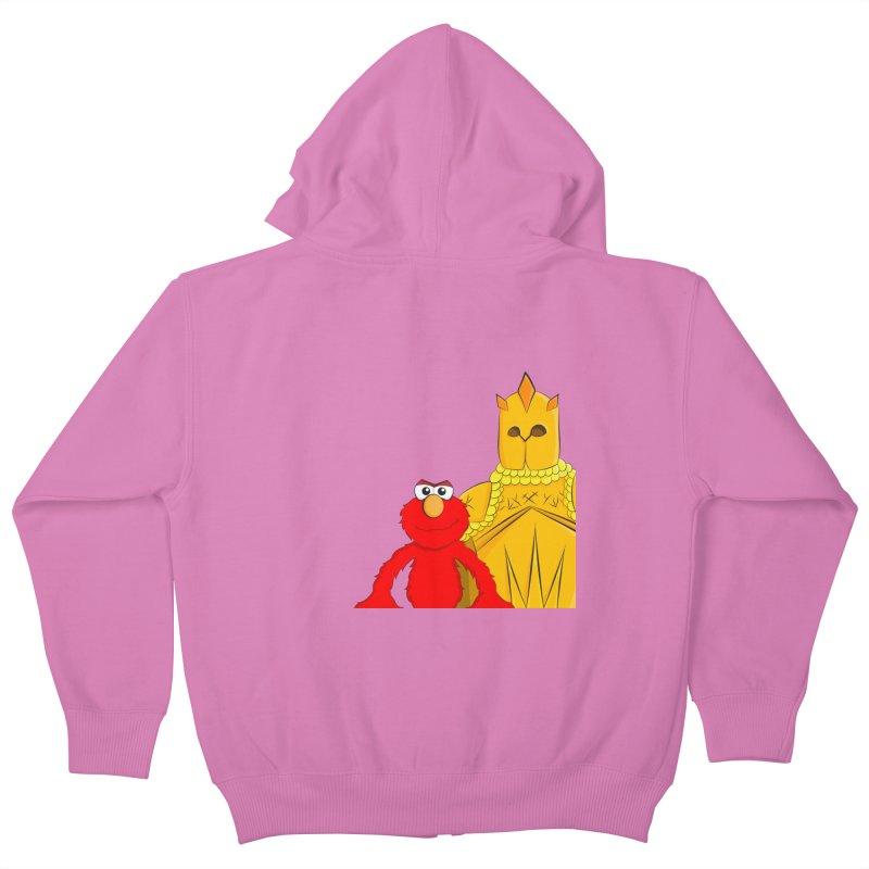 Elmo Choose Violence Kids Zip-Up Hoody by oneweirddude's Artist Shop