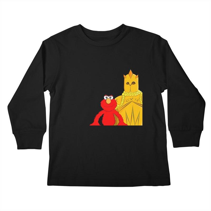 Elmo Choose Violence Kids Longsleeve T-Shirt by oneweirddude's Artist Shop
