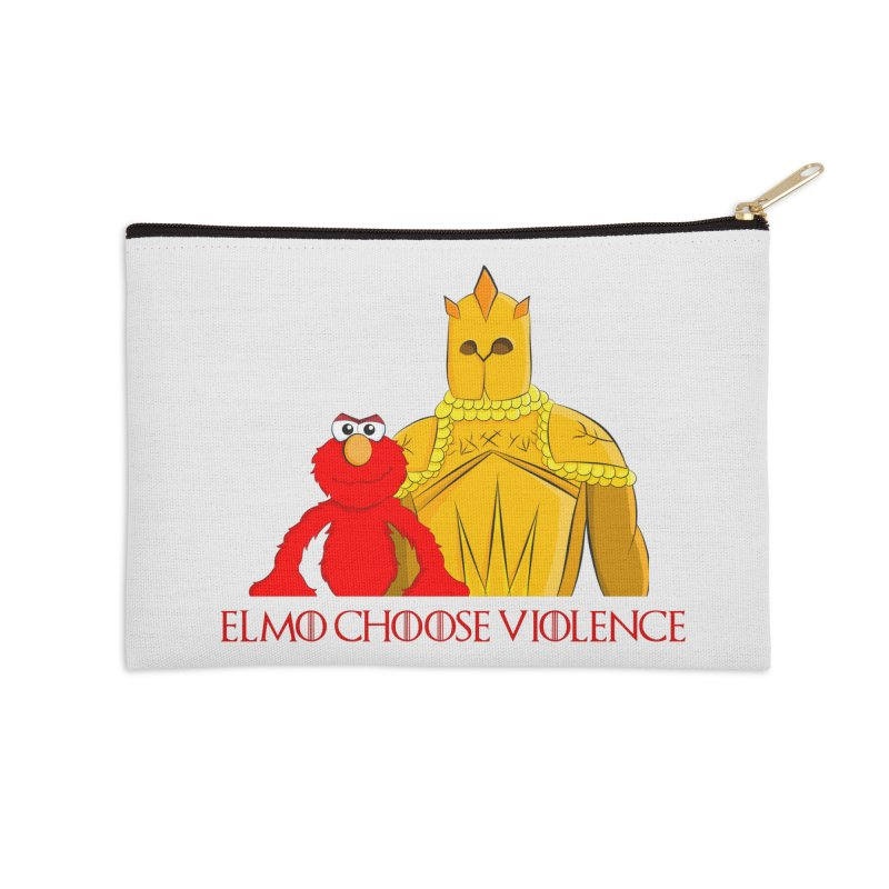 Elmo Choose Violence v2 Accessories Zip Pouch by oneweirddude's Artist Shop