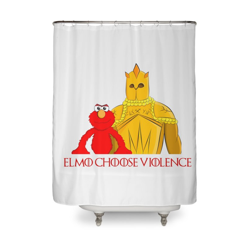Elmo Choose Violence v2 Home Shower Curtain by oneweirddude's Artist Shop
