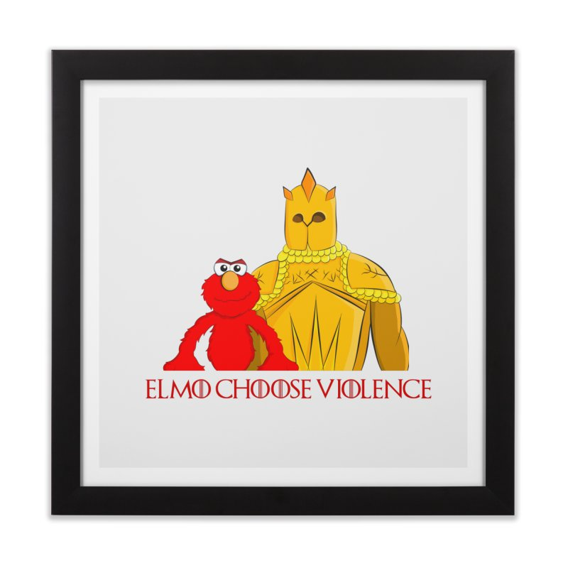 Elmo Choose Violence v2 Home Framed Fine Art Print by oneweirddude's Artist Shop