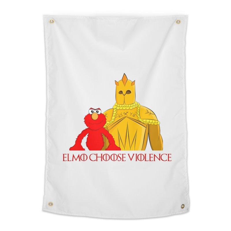 Elmo Choose Violence v2 Home Tapestry by oneweirddude's Artist Shop