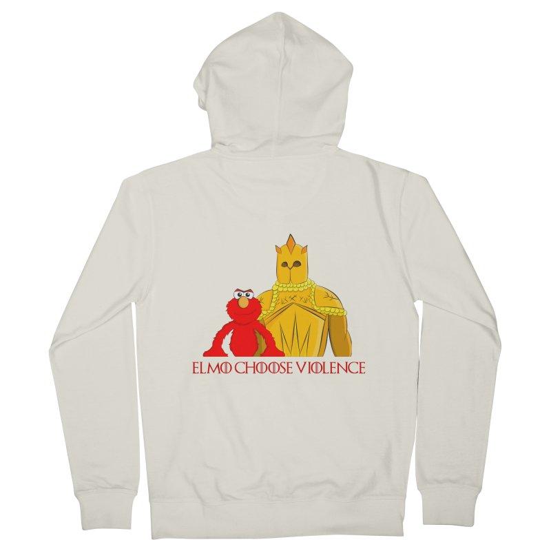 Elmo Choose Violence v2 Women's Zip-Up Hoody by oneweirddude's Artist Shop