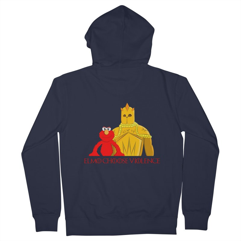 Elmo Choose Violence v2 Women's Zip-Up Hoody by oneweirddude's Artist Shop