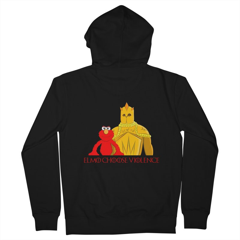 Elmo Choose Violence v2 Men's Zip-Up Hoody by oneweirddude's Artist Shop