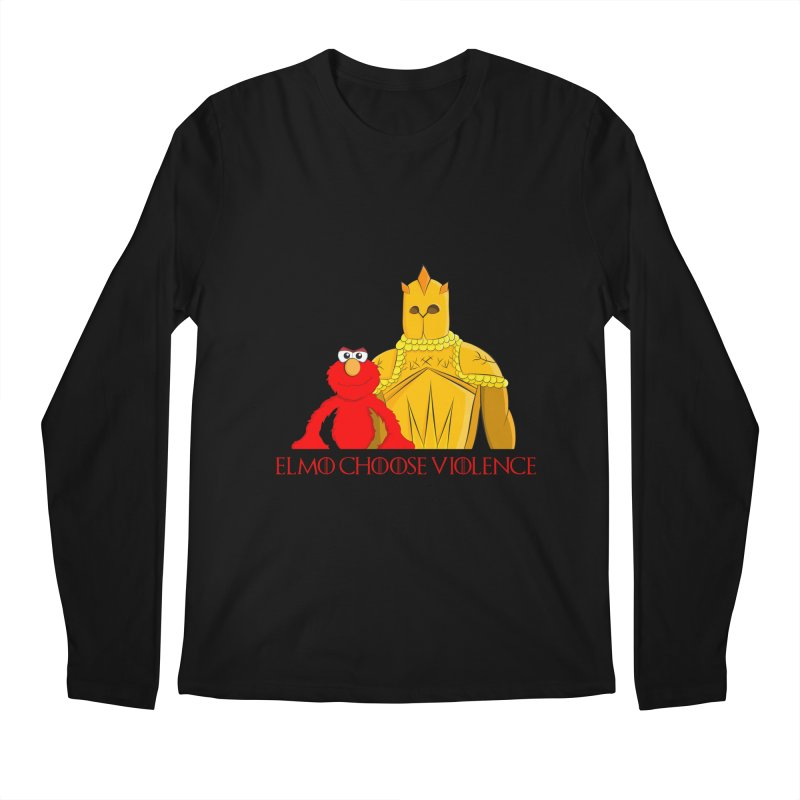Elmo Choose Violence v2 Men's Longsleeve T-Shirt by oneweirddude's Artist Shop
