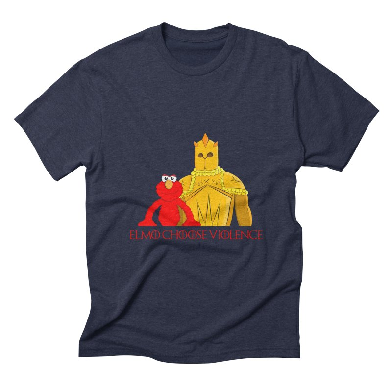 Elmo Choose Violence v2 Men's Triblend T-shirt by oneweirddude's Artist Shop