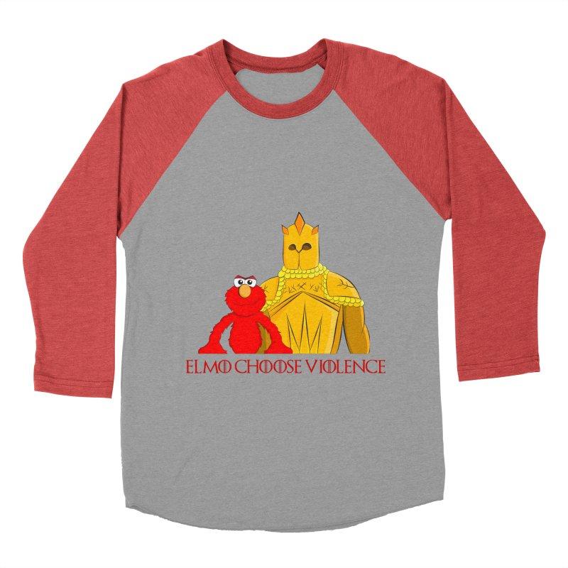 Elmo Choose Violence v2 Women's Baseball Triblend T-Shirt by oneweirddude's Artist Shop