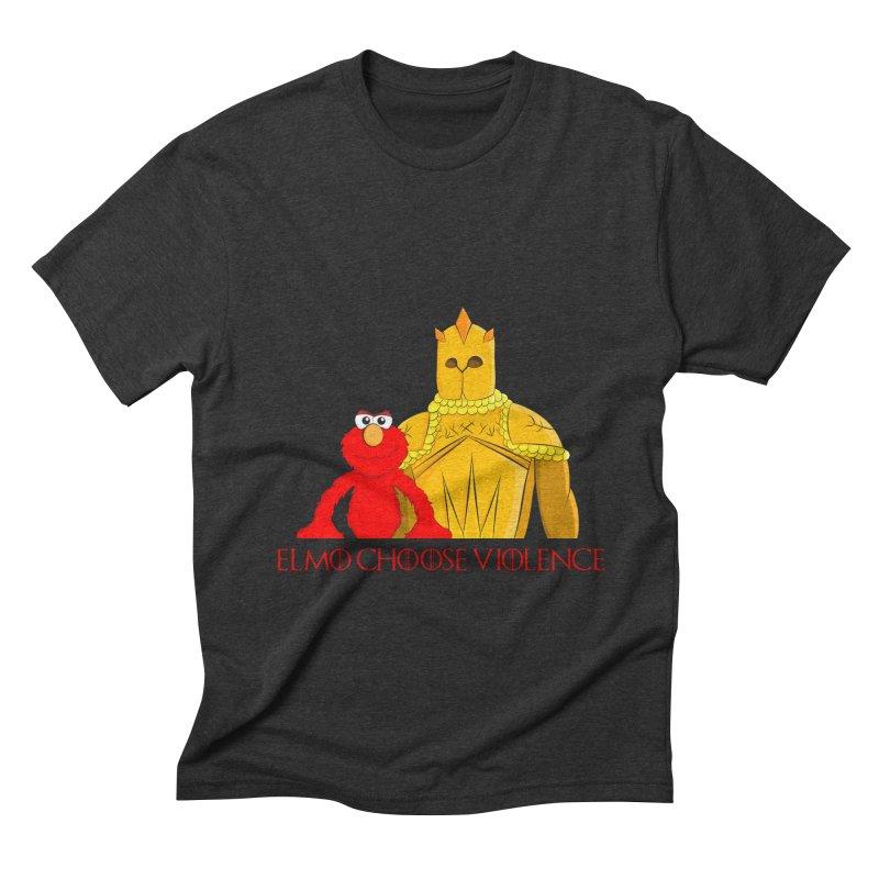 Elmo Choose Violence v2 Men's Triblend T-shirt by oneweirddude's Artist Shop