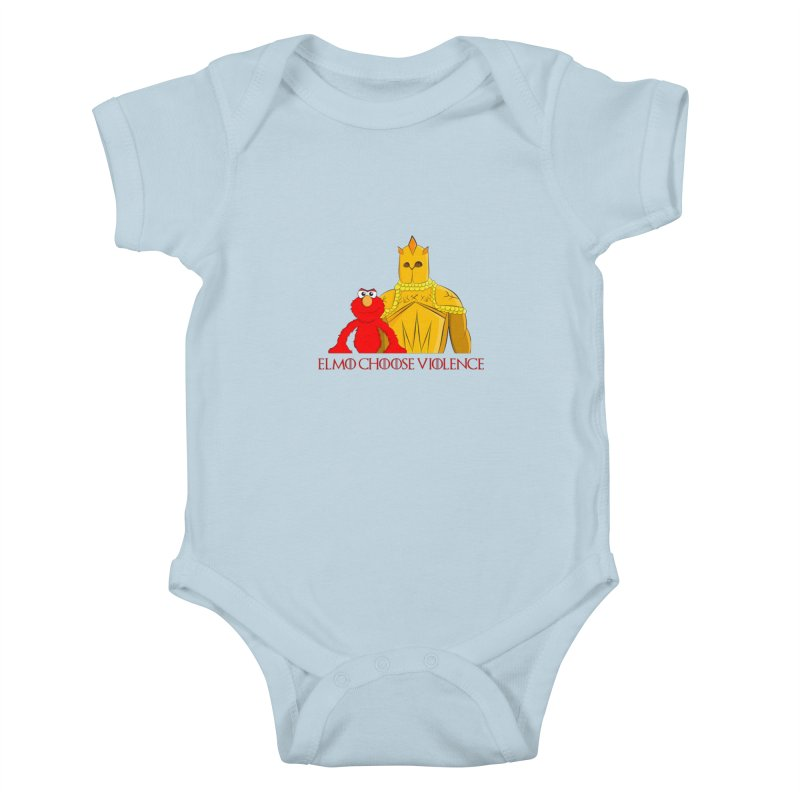 Elmo Choose Violence v2 Kids Baby Bodysuit by oneweirddude's Artist Shop