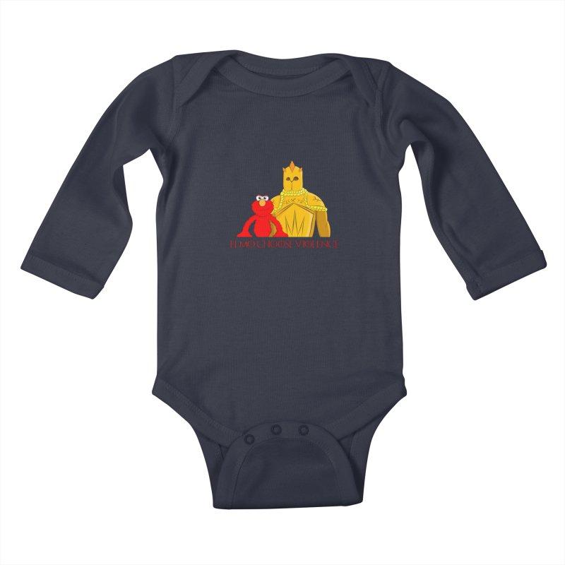 Elmo Choose Violence v2 Kids Baby Longsleeve Bodysuit by oneweirddude's Artist Shop